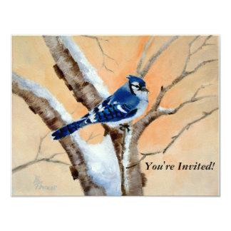 Blue Jay At Sunset Card