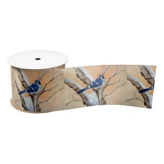 Blue Jay At Sunset Blank Ribbon