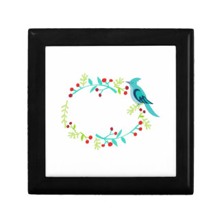 Blue Jay Berry Frame Jewelry Box