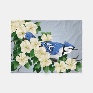 Blue Jay Bird Art On Gifts Fleece Blanket
