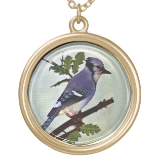 Blue Jay Bird Pendant