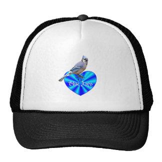 Blue Jay Blue Heart Mesh Hats