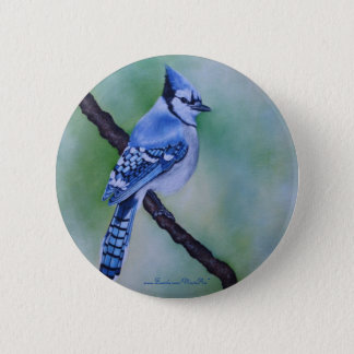 Blue Jay Button