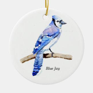 Blue Jay Ceramic Ornament