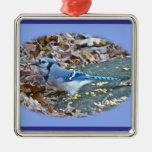 Blue Jay Christmas Ornament