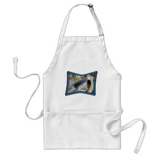 Blue Jay Feather Coordinating Items Adult Apron