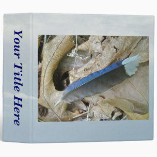 Blue Jay Feather Coordinating Items Binder