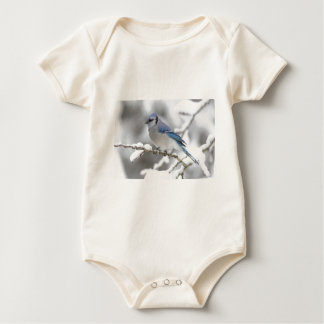 Blue Jay in Algonquin Park Baby Bodysuits