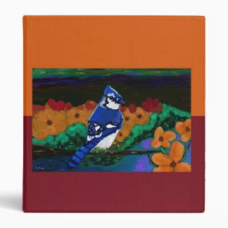 Blue Jay in Orange Flowers binder