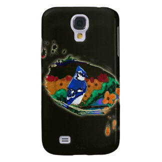 Blue Jay in Orange Flowers iPhone 3 case