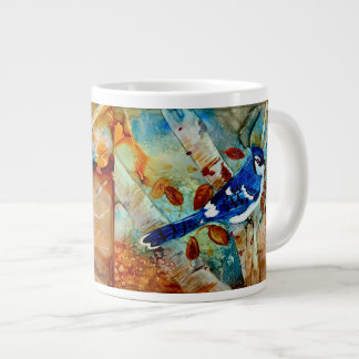 Blue Jay in the Tree Large Coffee Mug
