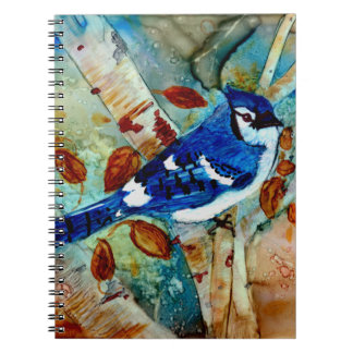 Blue Jay in the Tree Spiral Notebook