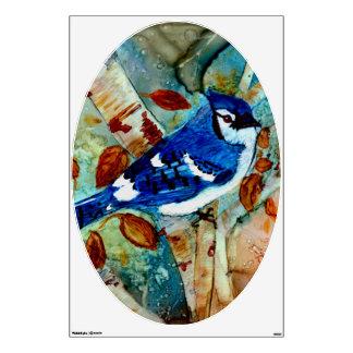 Blue Jay in the Tree Room Sticker