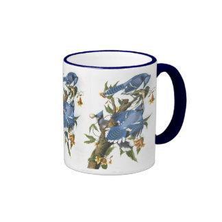 Blue Jay, John James Audubon Ringer Coffee Mug
