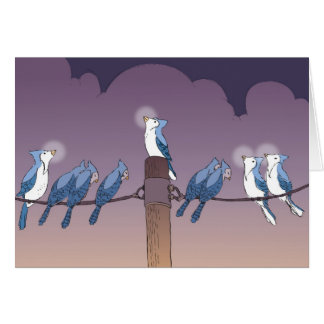 blue jay menorah HR Card