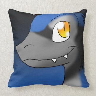 Blue Jay Microraptor Throw Pillow