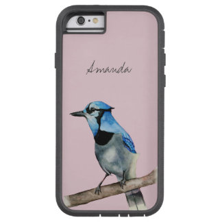 Blue Jay on Branch Watercolor Painting Tough Xtreme iPhone 6 Case