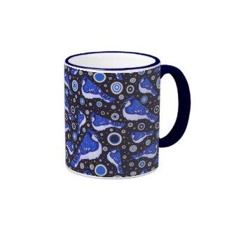 Blue Jay Pattern Mugs