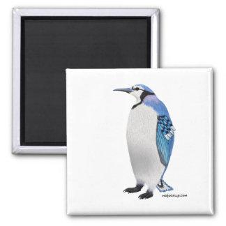 Blue Jay Penguin 2 Inch Square Magnet