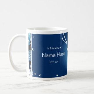 """Blue Jay"" Pet Sympathy Mug for cat or bird"