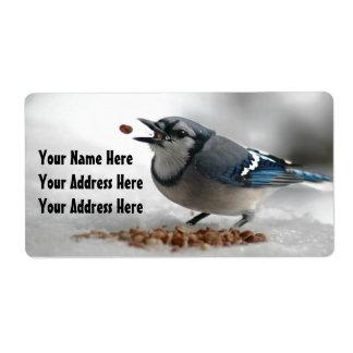 Blue Jay Photo Label