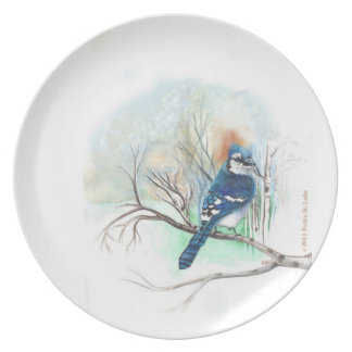 Blue-jay Plate
