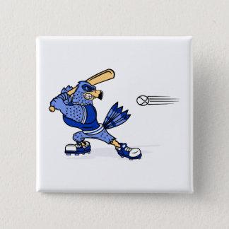 Blue Jay Playing Baseball Pinback Button