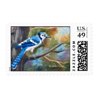 Blue Jay Postage Stamp