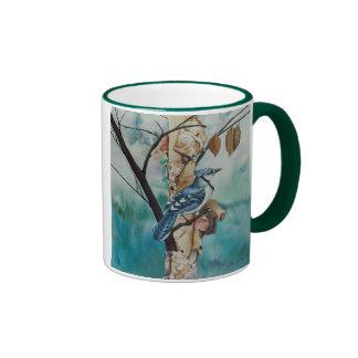 Blue Jay Ringer Coffee Mug