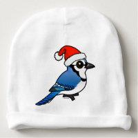 Blue Jay Santa Infant Cotton Rib Beanie Hat
