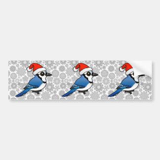Blue Jay Santa Bumper Sticker