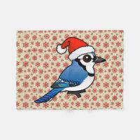 Blue Jay Santa Fleece Blanket, 30
