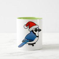 Blue Jay Santa Two-Tone Mug