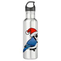Blue Jay Santa Water Bottle (24 oz)