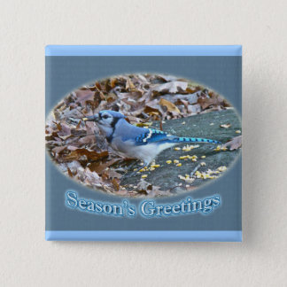 Blue Jay Season's Greetings Series Button
