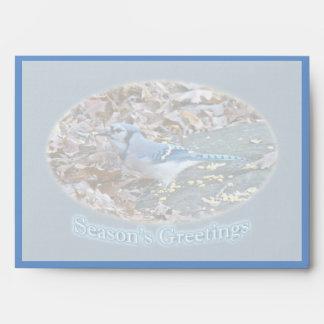 Blue Jay Season's Greetings Series Envelope