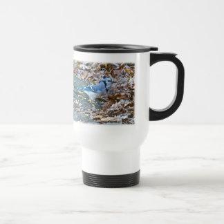 Blue Jay Songbird (Cyanocitta cristata) Travel Mug