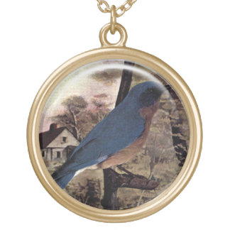 Blue Jay Two Bird Pendant