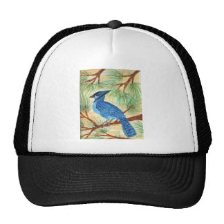 Blue Jay Watercolor by Wendy C Allen Trucker Hat