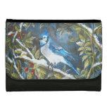 Blue Jay winter painting Wallet