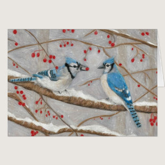 Blue Jays by Autistic Artist Marcy Deutsch Card