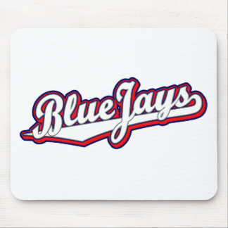 Blue Jays in White Gray and Red Mouse Pad