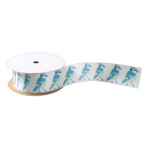 Blue Jays Pattern Satin Ribbon
