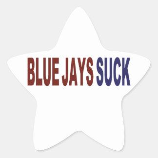 Blue Jays Suck Star Sticker
