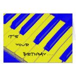 Blue Jazzy Keyboard Birthday Card