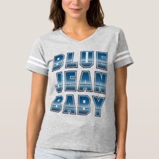 Blue Jean Baby Football T-Shirt