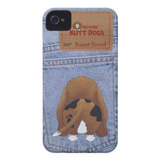 Blue Jean Basset Hound Butt iPhone 4 Cover