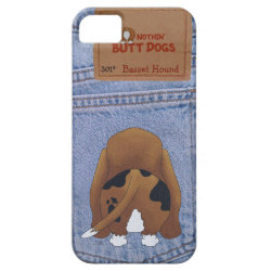 Blue Jean Basset Hound Butt iPhone SE/5/5s Case