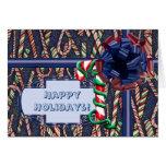 Blue Jean Candycane Card
