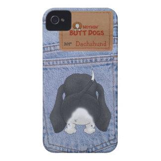 Blue Jean Dachshund Butt iPhone 4 Cover
